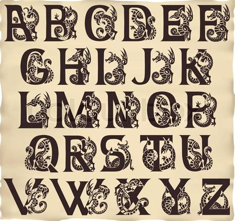 gothic tattoo alphabet retro abc alphabet vektorgrafik colourbox
