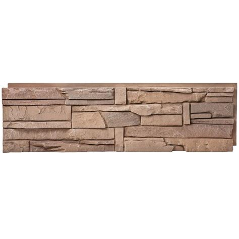 genstone stacked desert 12 in x 42 in faux