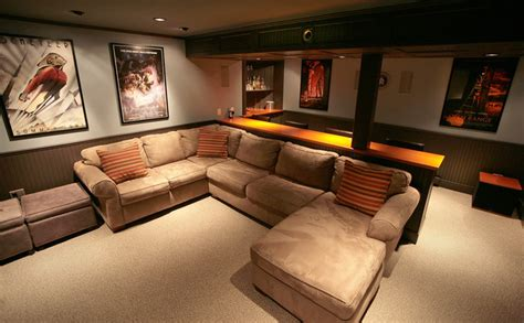 Small Home Theatre In Basement Basement Home Theater