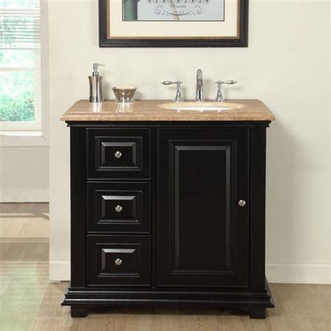 36 In Bathroom Vanity With Top 36 Inch Transitional Single Bathroom Vanity With A Travertine Counter Top Uvsrv0281tw36r