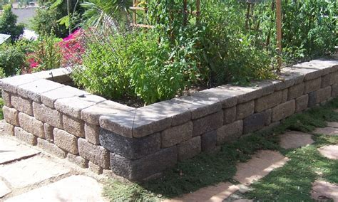 wall vegetable garden the 2 minute gardener photo raised vegetable bed seating wall made from country manor keystone