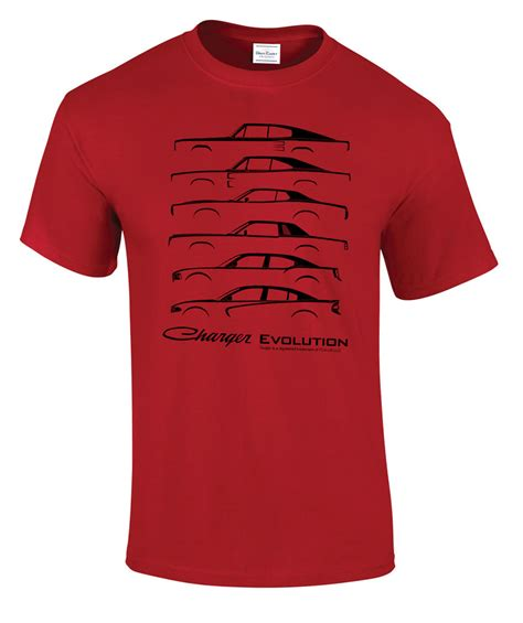 charger t shirts charger evolution t shirt