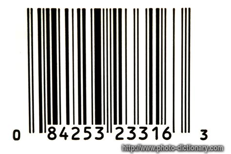 cancellation letter upc bar code photo picture definition at photo dictionary