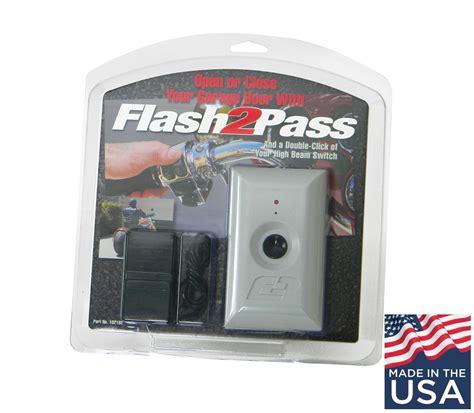 update flash2pass headlight activated garage door opener