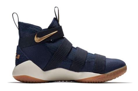 Sepatu Basket Nike Lebron Zoom Soldier 11 Cavs a navy gold nike lebron zoom soldier 11 is on the way sneakers cartel