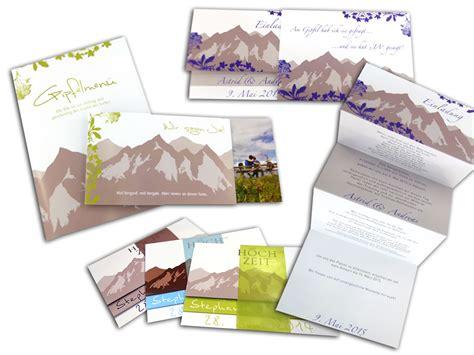 Hochzeitseinladung Berge by Hochzeitseinladung Liebe Versetzt Berge