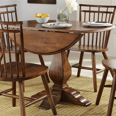 Liberty Furniture Creations Ii Drop Leaf Pedestal Dining Pedestal Dining Table With Leaf