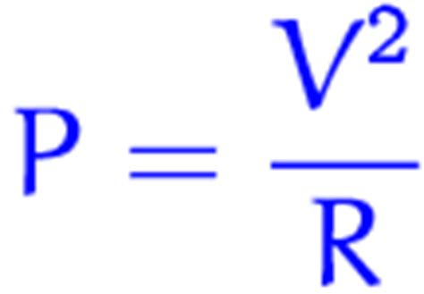 power resistor formula difference between fixed variable voltage and wattage
