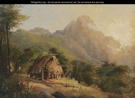 un hutte hutte dans un paysage de montagne galipan camille