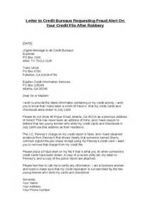 Report Letter Scams Letter To Credit Bureaus Requesting Fraud Alert On Your Credit File After Robbery Hashdoc