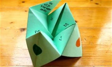 How Do You Make A Paper Chatterbox - make a paper fortune teller kidspot