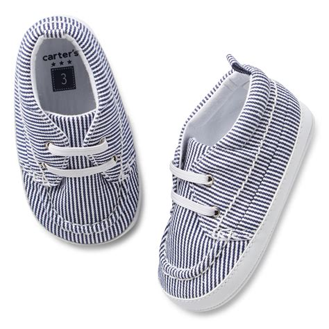 Carters Crib Shoes by S Striped Boat Crib Shoes Carters