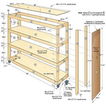 diy wood design shop woodworking plan