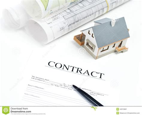 buying a house signing contract new house contract stock photo image 43372891