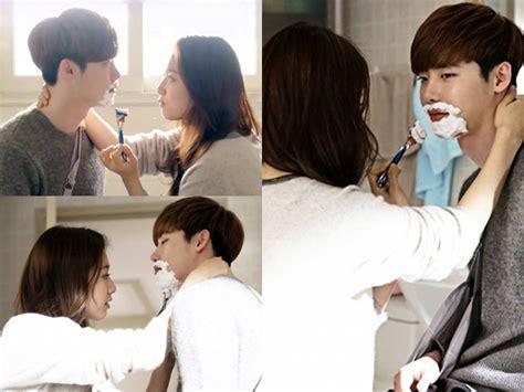 drama park shin hye dan lee jong suk mesranya park shin hye ketika mencoba mencukur lee jong