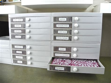 Scrapbook Paper Drawers by Organizing Your Craft Supplies For The New Year Craftfoxes