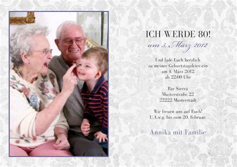 Einladungskarten Hochzeit Außergewöhnlich by Einladungskarte Zum 80 Ourpath Co