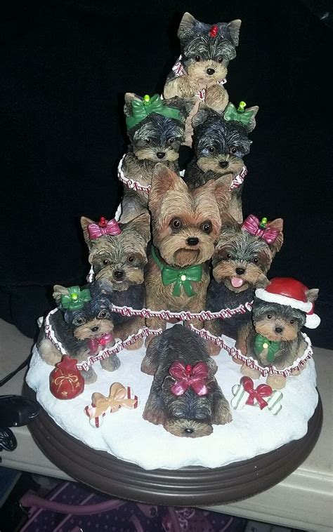 xmas tree with yorkies danbury mint yorkie lighted tree never used ebay
