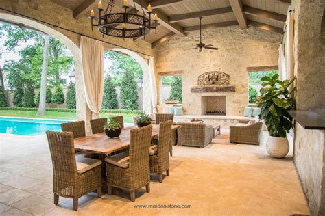 Mediterranean Patio with exterior tile floors by Hal