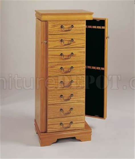 Jewelry Armoire Oak Finish by Oak Finish Jewelry Armoire With Swing Out Sides