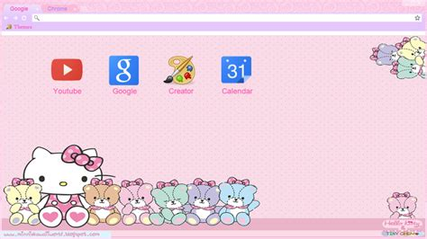 hello kitty themes google chrome hello kitty theme for google chrome by minniekawaiitutos