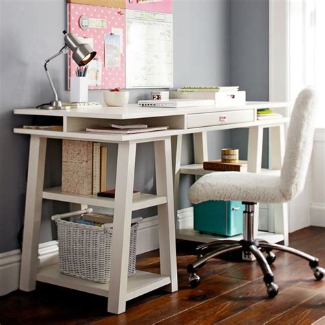 teenage desk customize it storage trestle desk