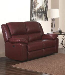 2 Seater Reclining Leather Sofa by Burgundy Genuine Leather 2 Seater Electric Reclining