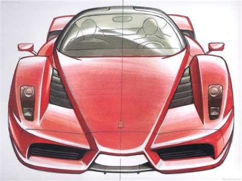 ferrari enzo sketch ferrari enzo picture 74 of 76 design sketches my 2002