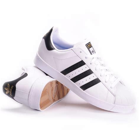 Sepatu Sneaker Adidas Superstar White List Nevy adidas superstar vulc adv white black white s