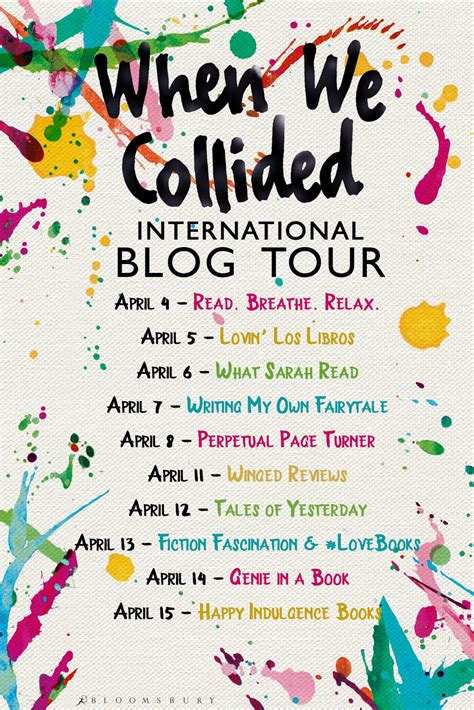 libro when we collided blog tour when we collided by emery lord review author interview genie in a book