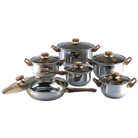 Kitchen Cookware Sets by New 12 Cookware Set Pots And Pans Kitchen Home