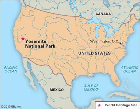 map usa yosemite yosemite national park britannica