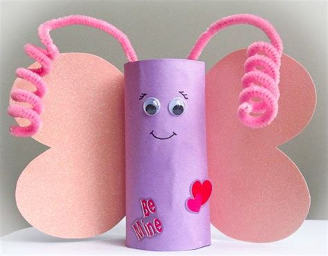 Recycled Toilet Paper Roll Crafts - butterfly craft kit toddler children