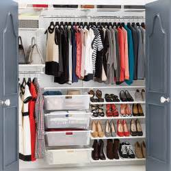 Closet Store Clothes Closet White Elfa Reach In Clothes Closet The