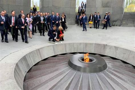 emmanuel macron yerevan french president emmanuel macron honors armenian genocide