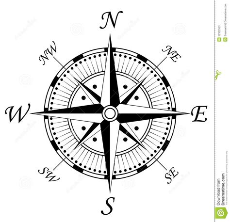 compass symbol stock photos image 12322553