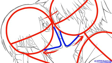 how to sketch an anime kiss step by step anime people