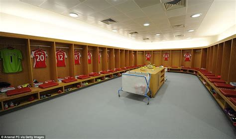 in the chagne room arsenal leave sutton united s away dressing room in a mess daily mail