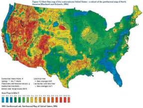 geothermal map of america geothermal map of united states