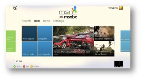 Msn Xbox360 msn with msnbc app now available on xbox live