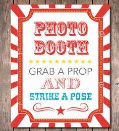 Etsy carnival party photo booth sign instant download carnival party