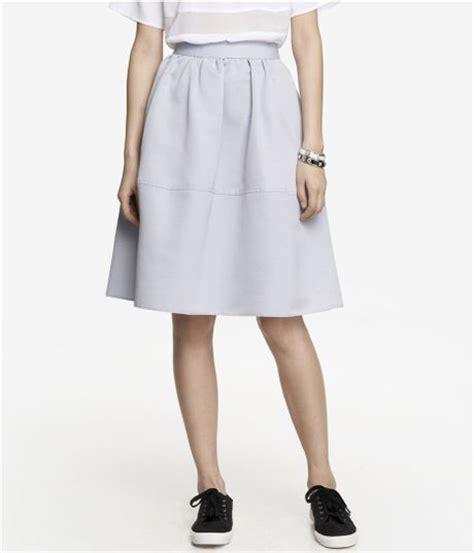 High Waist Midi Skirt Grey express high waist midi skirt in gray pale gray lyst