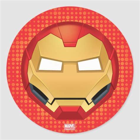 iron man emoji classic sticker zazzleca