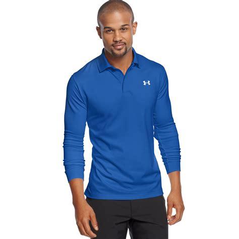Polo Shirtkaos Polo Armour 1 armour longsleeve performance polo shirt in blue for moon shadow lyst