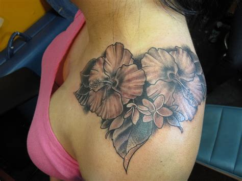 shoulder flower tattoos hibiscus tattoos designs ideas and meaning tattoos for you