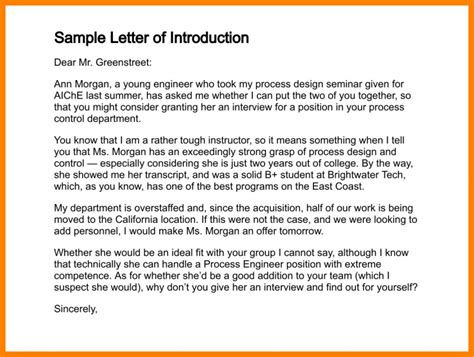 Introduction Letter About Yourself Exles 5 Sle Introduction Of Yourself Introduction Letter