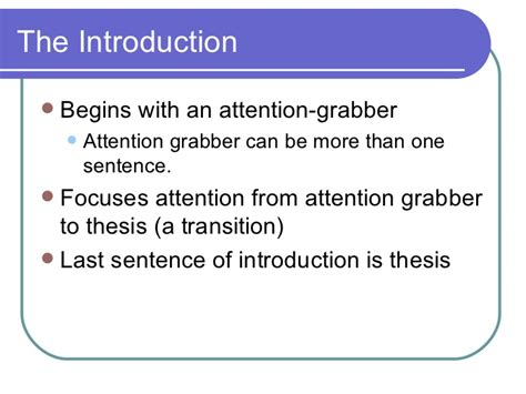 Attention Grabbers For Abortion Essays by Essay Introduction Attention Grabber