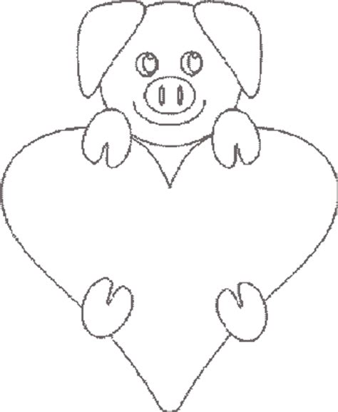valentine pig coloring page valentine coloring pages baby pig coloring pages