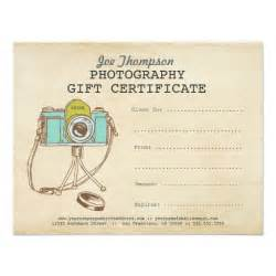 photographer photography gift certificate template 11 cm x