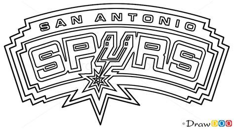 how to draw san antonio spurs basketball logos how to